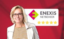 Femke Haest van Enexis waardeert de service van Oostkracht10 met 5 sterren